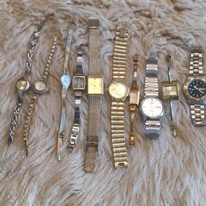 15 Mens Woman Watches FOR PARTS JUST BATTERIES